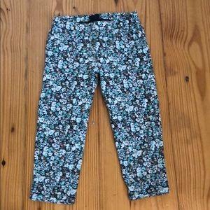 Flower capris leggings